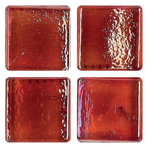 Mosaico in vetro Rosso Fluo Scuro