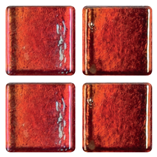 Mosaico in vetro Rosso Fluo