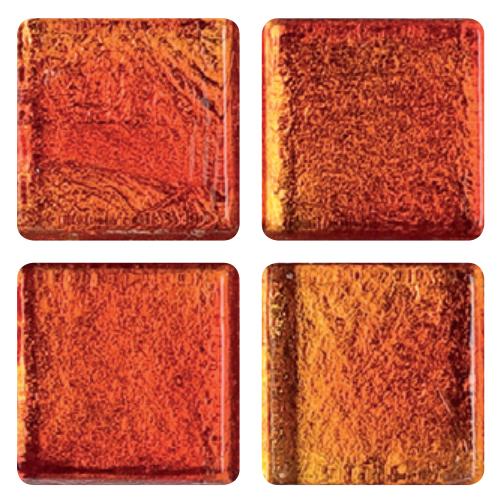 Mosaico in vetro Rosso Papavero