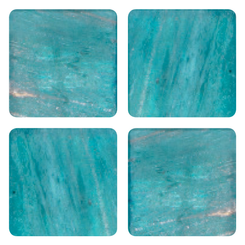 Mosaico in vetro Azzurro Acqua Marina