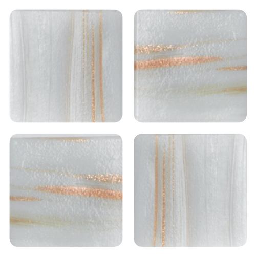 Mosaico in vetro Bianco Melange Forte