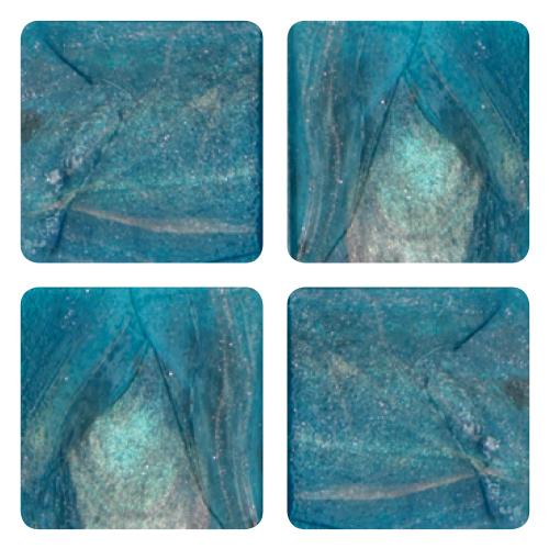 Mosaico in vetro Blu Acqua
