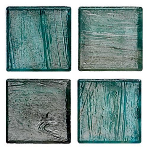 Mosaico in vetro Azzurro Verdastro Lucido