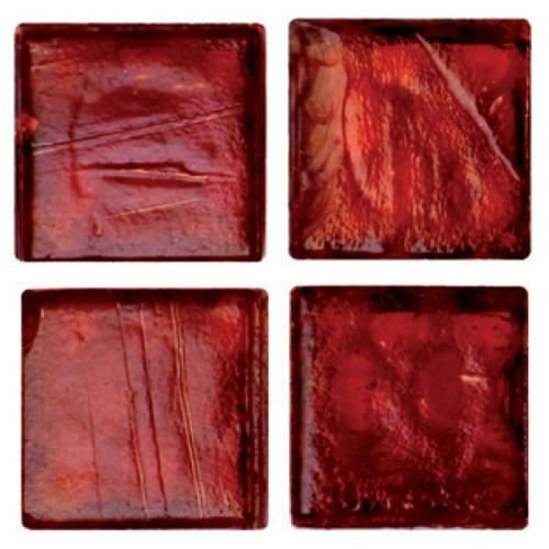 Mosaico in vetro Rosso Rubino Lucido