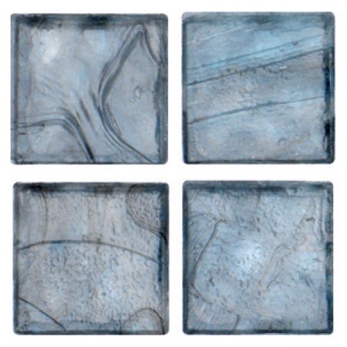 Mosaico in vetro Azzurro Plumbeo Opaco