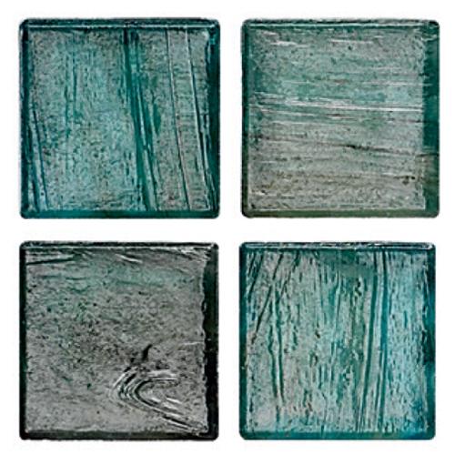 Mosaico in vetro Azzurro Verdastro Opaco