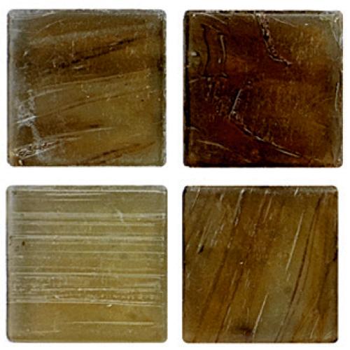 Mosaico in vetro Giallo Orzo Opaco