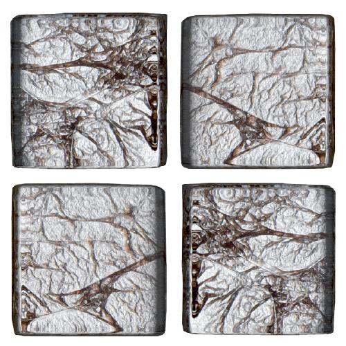 Mosaico in vetro Argento Venato