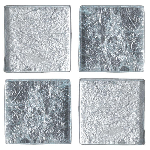 Mosaico in vetro Argento