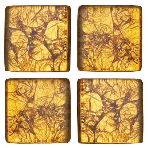 Mosaico in vetro Giallo Dorato
