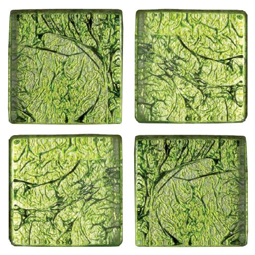 Mosaico in vetro Verde Acido