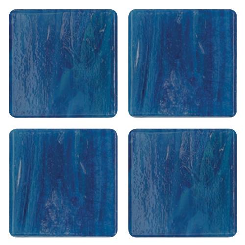 Mosaico in vetro Blu Luce